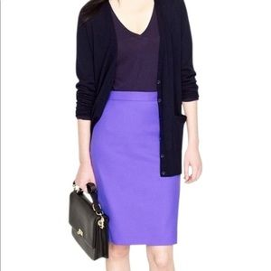 NWT J Crew Purple No. 2 Pencil Skirt